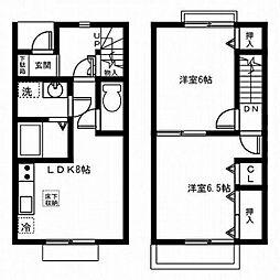 [テラスハウス] 東京都八王子市七国6丁目 の賃貸【/】の間取り