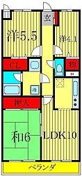 ライオンズマンション三郷第3[3階]の間取り