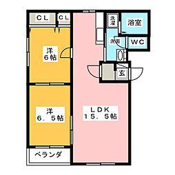 フレンズ[2階]の間取り