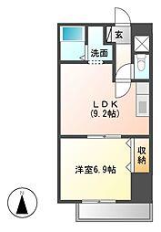 エスタシオン新栄[7階]の間取り