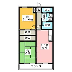 BASICマンション[2階]の間取り