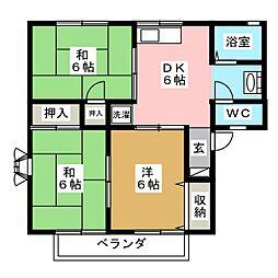 エヤナ蔵3[1階]の間取り