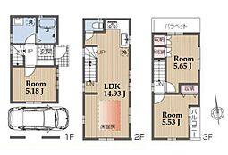 建物参考プラン:間取り/3LDK、延床面積/78.02m2、建物参考価格/1380万円(税込)