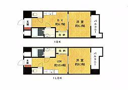 La maison Cerisier Miyoshi(ラ メゾン スリジェ ミヨシ)[101号室]の間取り