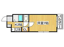 Uro大国町[8階]の間取り