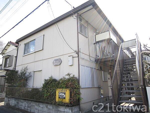 埼玉県志木市柏町2丁目の賃貸アパートの外観