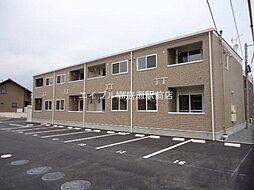 岡山県岡山市北区高松の賃貸アパートの外観