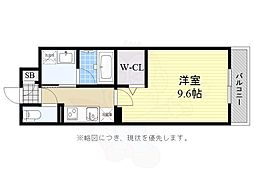 JR福知山線 塚口駅 徒歩15分の賃貸マンション 3階1Kの間取り