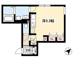 WELLCOURT NAKAMURA-KOUEN 1階ワンルームの間取り