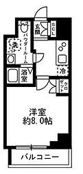 都営浅草線 人形町駅 徒歩10分の賃貸マンション 3階1Kの間取り