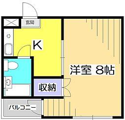 アメニティコウヤマ第11ガーデン[3階]の間取り