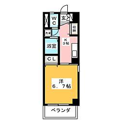 リバーリッチマンション[3階]の間取り
