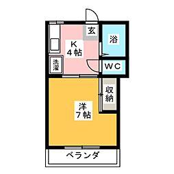 第二サンライフ大嶋[2階]の間取り