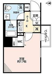 東京メトロ半蔵門線 住吉駅 徒歩3分の賃貸マンション 2階1Kの間取り
