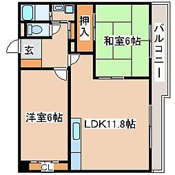 兵庫県明石市港町の賃貸マンションの間取り