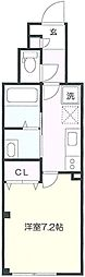 JR南武線 向河原駅 徒歩12分の賃貸マンション 1階1Kの間取り