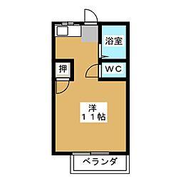 ハイムパシフィック A棟[1階]の間取り