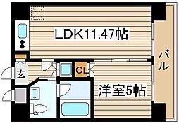 Wタワー江戸堀[4階]の間取り