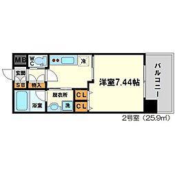 プレジオ新御堂[4階]の間取り