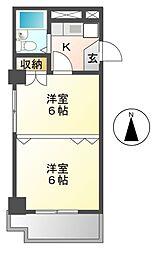 プリンセス泉[3階]の間取り