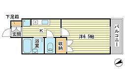 O−3マンション[305号室]の間取り