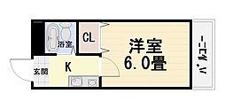 大阪府堺市西区鳳中町9丁の賃貸マンションの間取り
