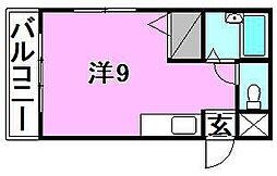 キャバリア館[101 号室号室]の間取り