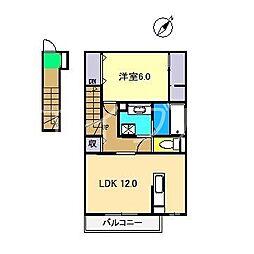 ボナール朝倉西町[2階]の間取り