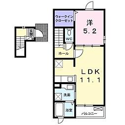 深野3丁目アパート2[0202号室]の間取り