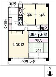 サンプラザ・K[3階]の間取り