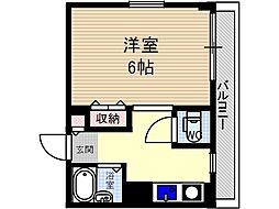 ナチュール茨木[1階]の間取り