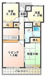 井吹東シティコート[3階]の間取り