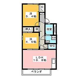 グリーンハイツ95 A[2階]の間取り