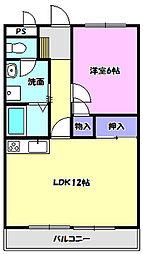 宮本マンション[302号室]の間取り