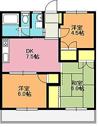 埼玉県上尾市柏座4丁目の賃貸マンションの間取り