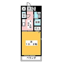 VERDINO内田橋[5階]の間取り