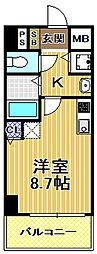 レジデンス福島2[6階]の間取り