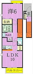 千葉県松戸市五香西1丁目の賃貸アパートの間取り