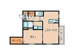 仮)和歌山市五番丁ヘーベルメゾン[3階]の間取り
