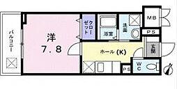 西武新宿線 新井薬師前駅 徒歩7分の賃貸マンション 1階1Kの間取り
