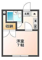 埼玉県さいたま市見沼区丸ヶ崎町の賃貸アパートの間取り