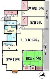 第二福井マンション[2階]の間取り