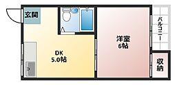大阪府大阪市平野区平野西3丁目の賃貸マンションの間取り