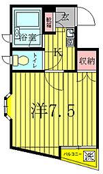 明原マンション森田[303号室]の間取り