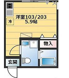 グランドテラス南太田[2階]の間取り