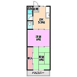 柴田マンションC棟[3階]の間取り