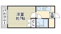 第2コーポ大喜[407号室]の間取り