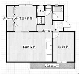 麻生台団地24号棟[1階]の間取り