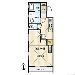 JR相模線 社家駅 徒歩2分の賃貸アパート 2階1LDKの間取り