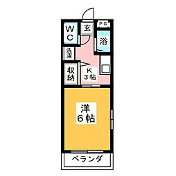 ハイツシンフォニーI[2階]の間取り